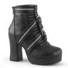 GOTHIKA-50 Black Vegan Leather